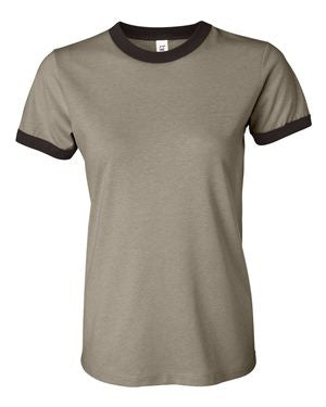 Bella + Canvas  Women's Heather Jersey Ringer Tee 6050 (Available in 4 Colors)