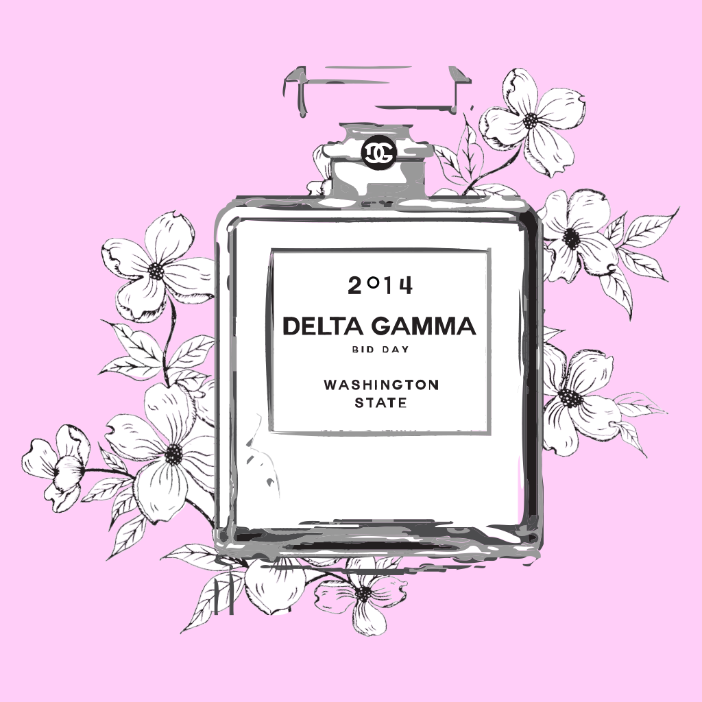 Delta Gamma Bid Day Design