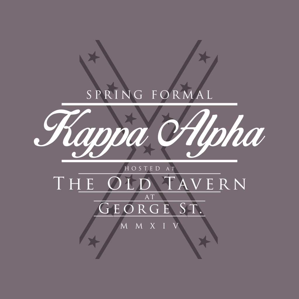 Kappa Alpha Order Spring Formal Design