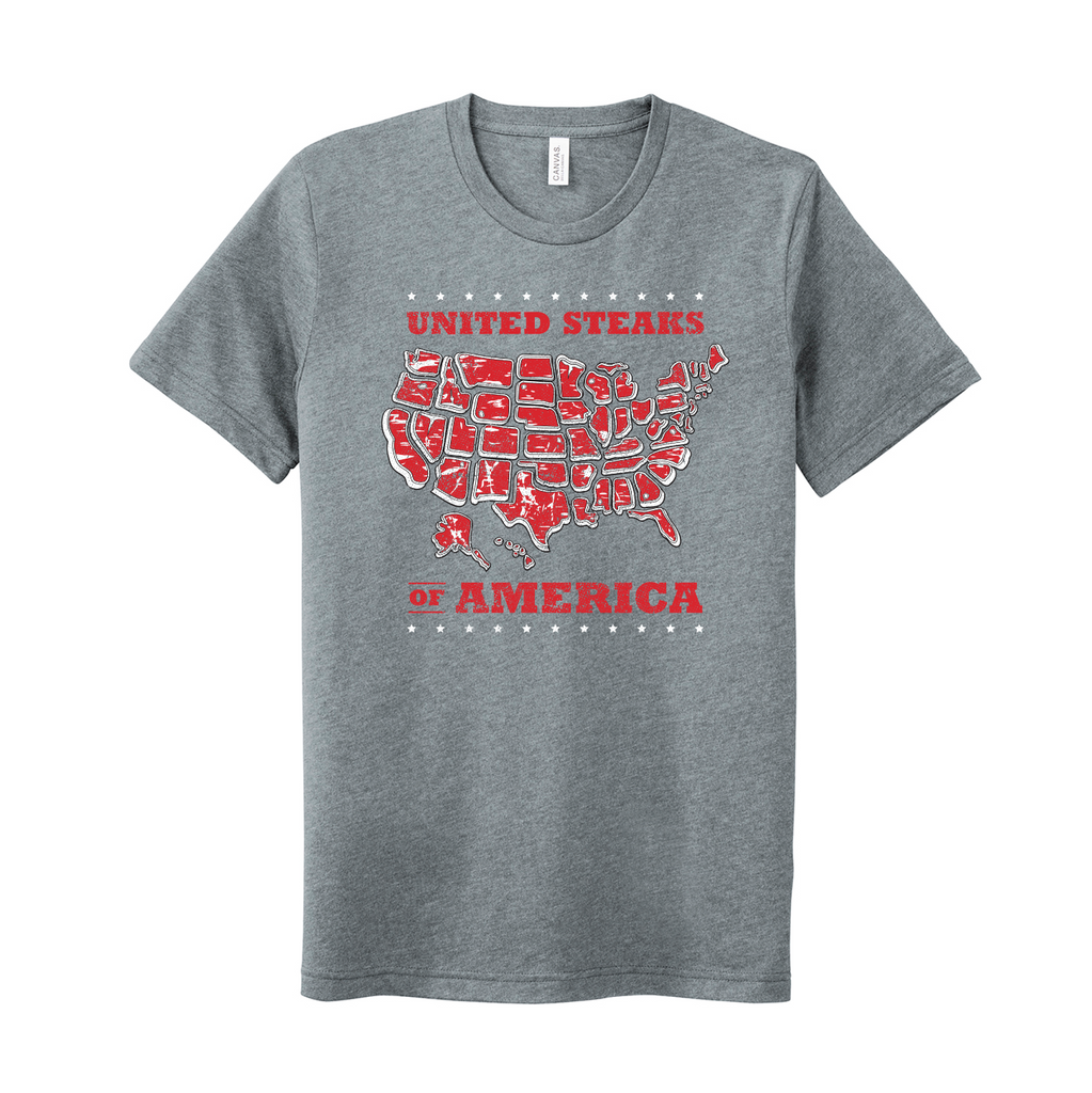 United Steaks of America S2 - Unisex T-Shirt (Athletic Heather)