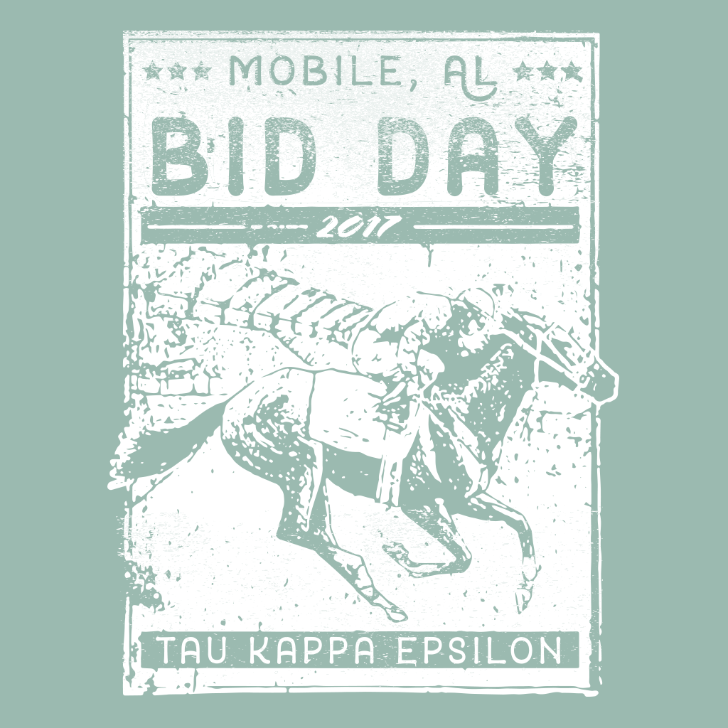 Tau Kappa Epsilon Derby Bid Day Design