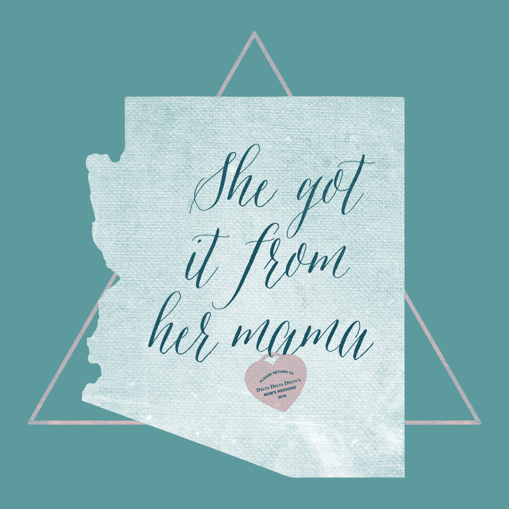 Tri Delta Chic Mom's Weekend Design
