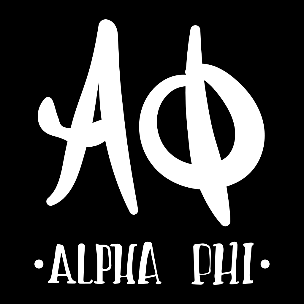 Alpha Phi Hand Lettered Design