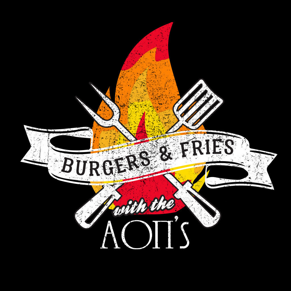 Alpha Omicron Pi Burgers and Fries Design