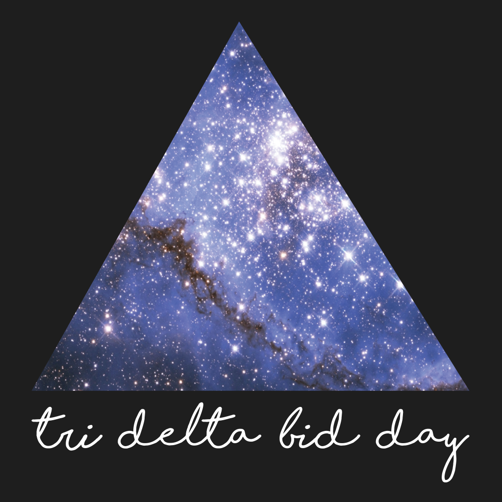 Tri Delta Galaxy Bid Day Design