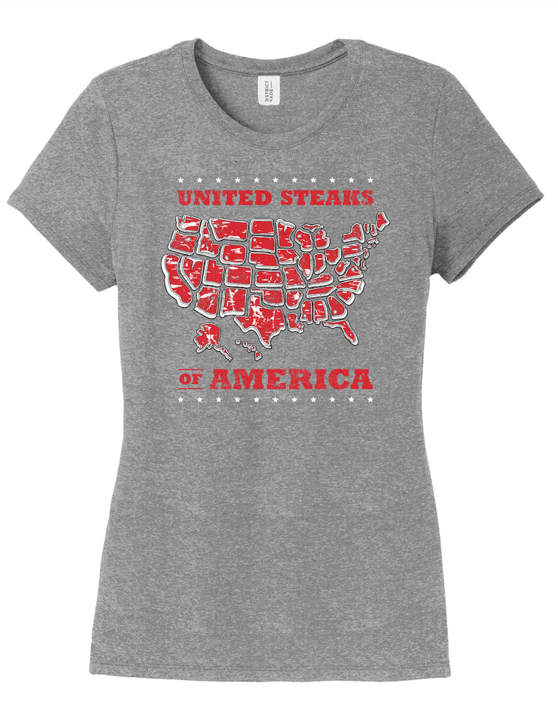 Red White & Bull Concert Tee - Ladies T-Shirt (Grey Frost)