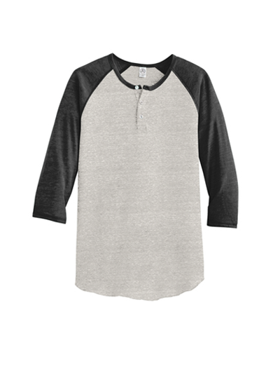 Alternative Apparel Eco-Jersey 3/4-Sleeve Raglan Henley