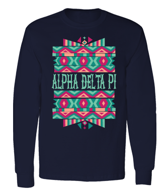 Alpha Delta Pi Tribal Kaleidoscope Long Sleeve