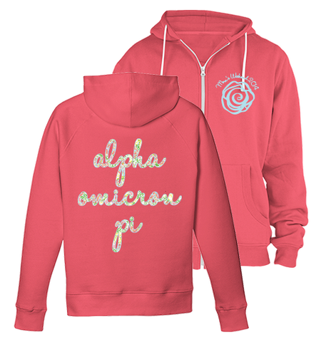 Alpha Omicron Pi Lilly Mom's Weekend Zip Up