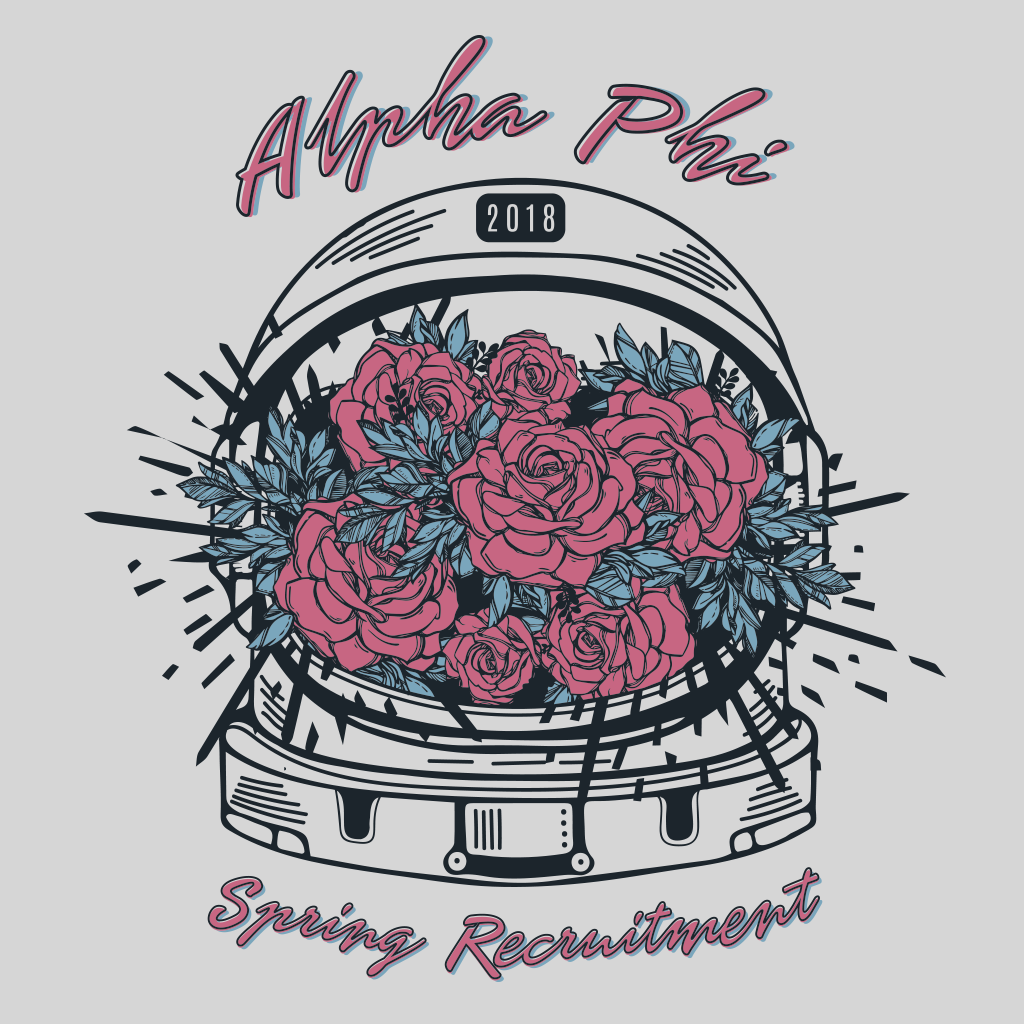 Alpha Phi Space Spring Bid Day Design