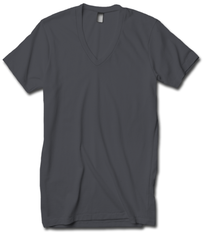 American Apparel 2456 Unisex V-Neck (Available in 24 Colors)