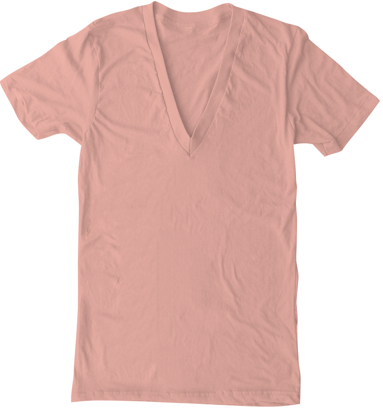American Apparel AA6456 Sheer Jersey Deep V-Neck