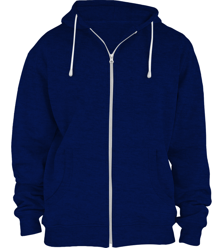 American Apparel MT497 Salt and Pepper Zip Hoodie