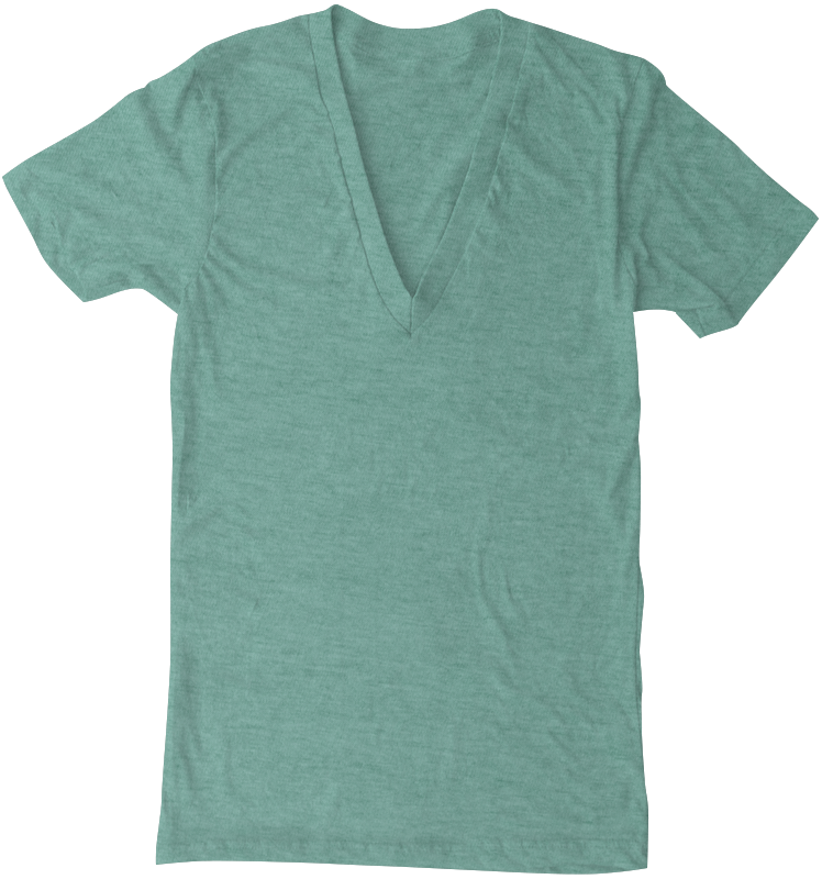American Apparel TR456 Tri-Blend Deep V-Neck