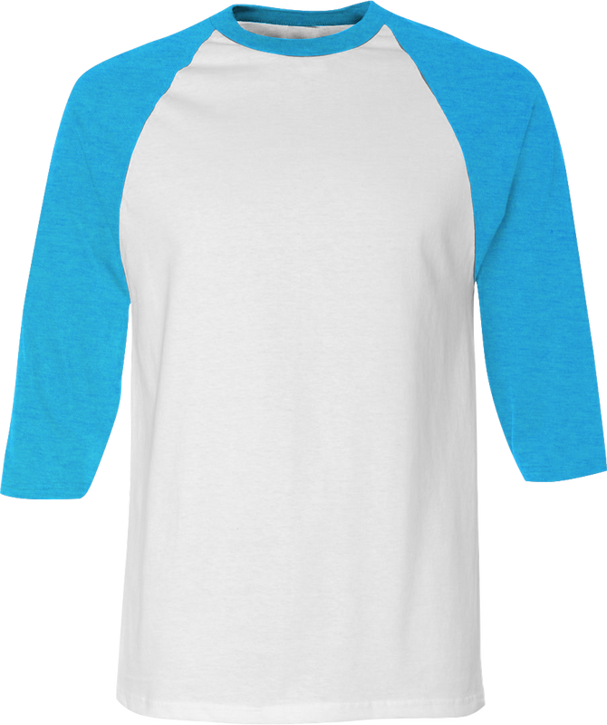 American Apparel BB453 3/4 Sleeve Raglan Shirt