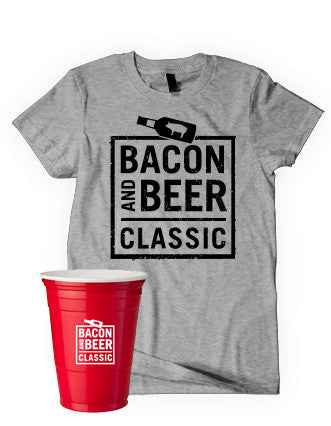 Bacon & Beer Classic 2014 Shirt & Souvenir Pack (Multi Color Options of Tee)