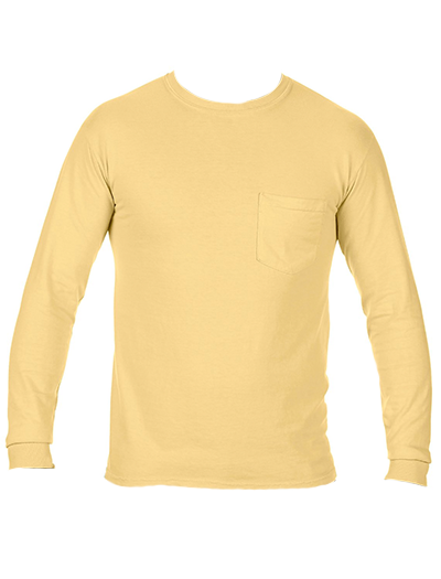 Comfort Colors Adult Heavyweight Long Sleeve Pocket Tee