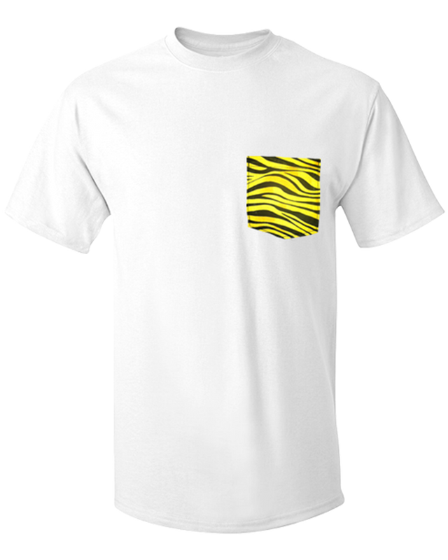 Yellow Zebra Custom Pocket