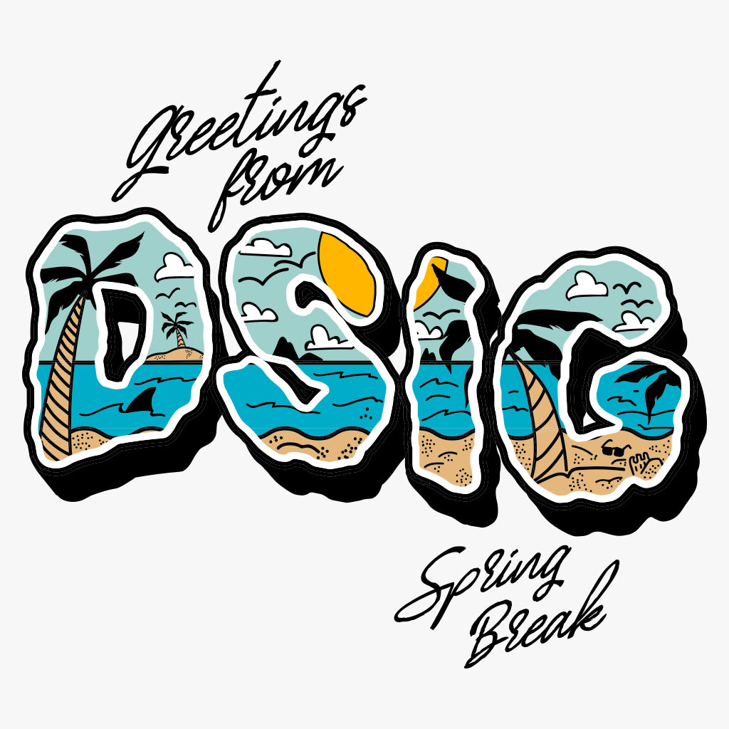 Delta Sigma Hand Drawn Spring Break Vibes Design