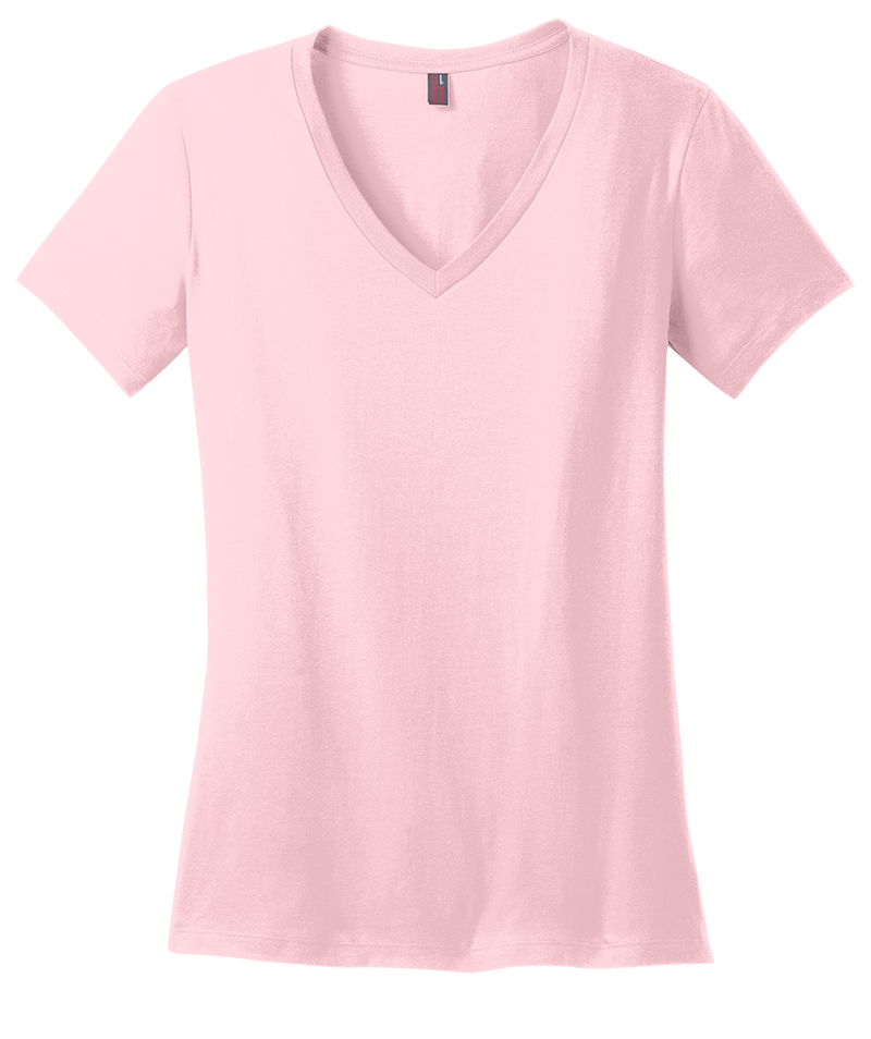 District Made DM1170L Ladies Perfect Weight V-Neck  (Available in 11 Colors)