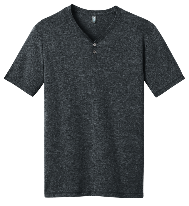 District DM342 Tri-Blend Henley Tee