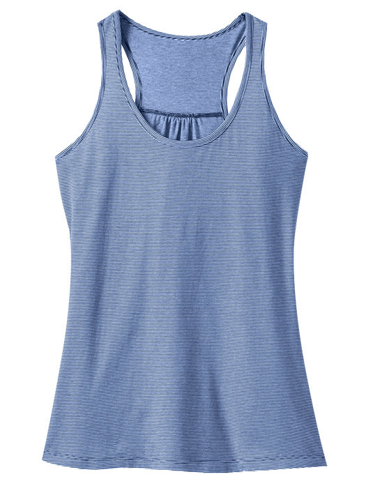 District DM421 Ladies Mini Stripe Gathered Racerback Tank