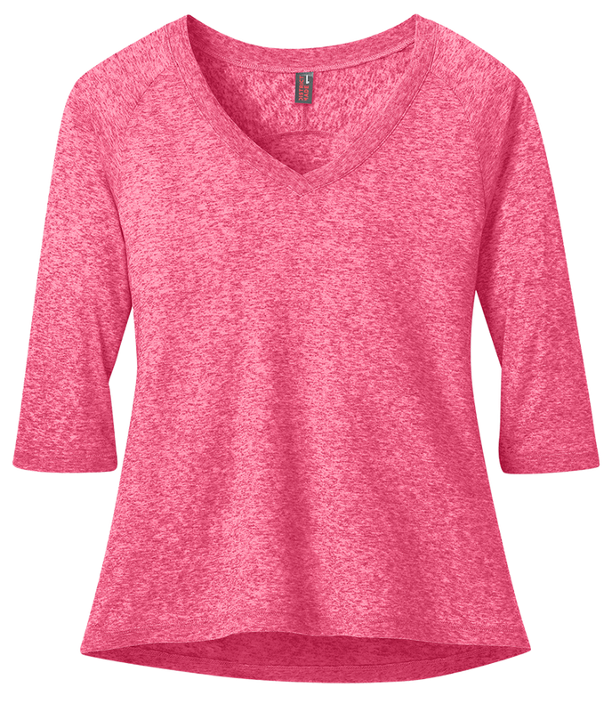District DM462 Ladies Microburn Vee Raglan