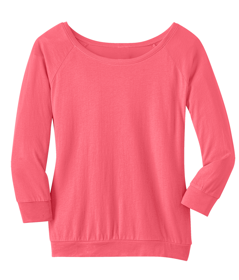 District DM482 Ladies Modal 3/4 Sleeve Raglan