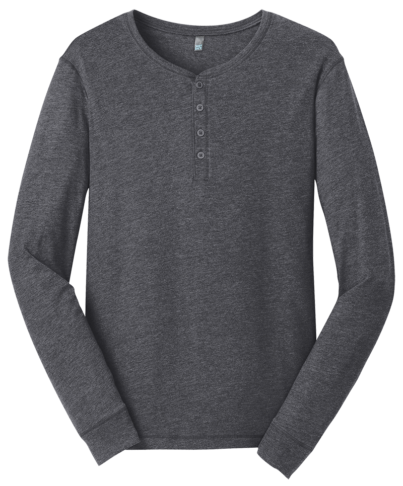 District DT1401 Gravel Long Sleeve Henley Tee