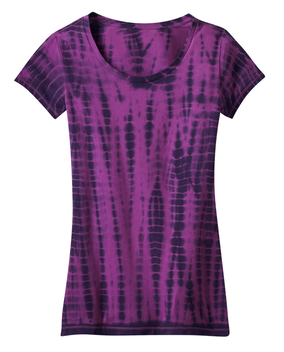 District DT2300 Juniors Tie-Dye Girly Tee