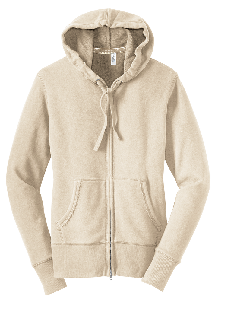 District Juniors Vintage French Terry Full-Zip Hoodie