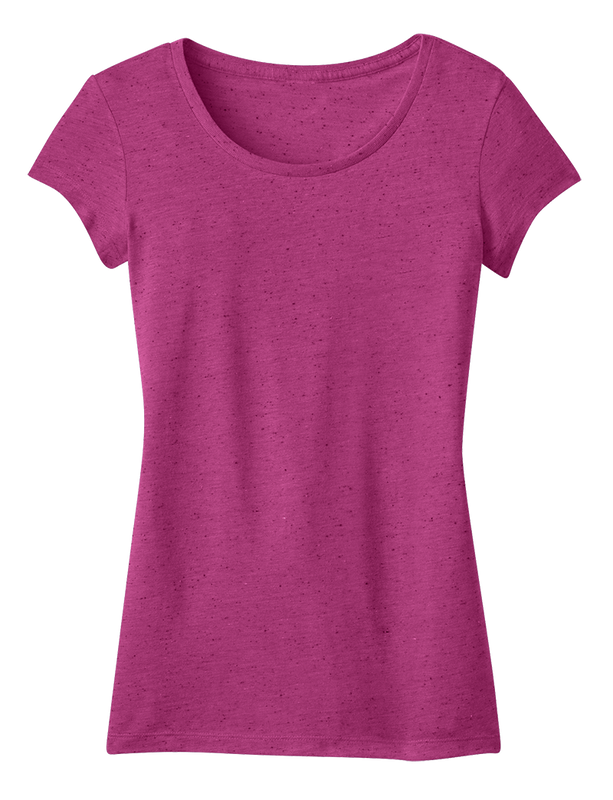 District DT270 Juniors Textured Girly Tee