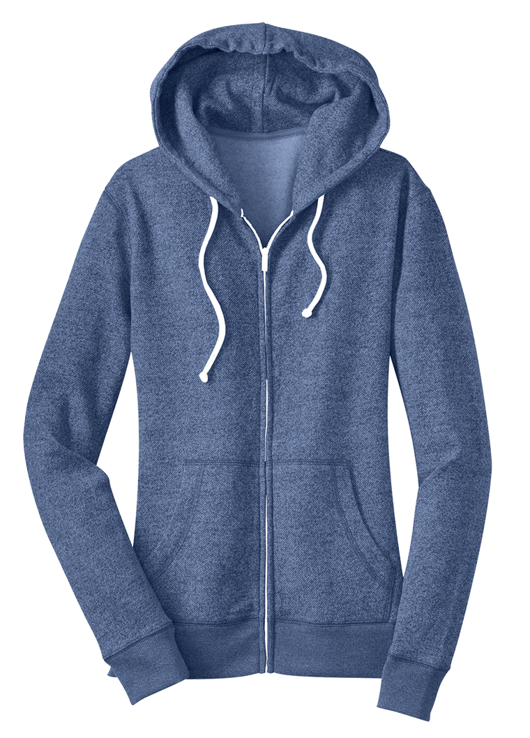 District Juniors Marled Fleece Full-Zip Hoodie