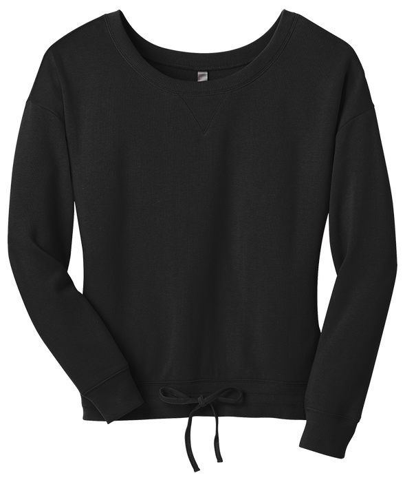 District Juniors Core Fleece Wide Neck Pullover