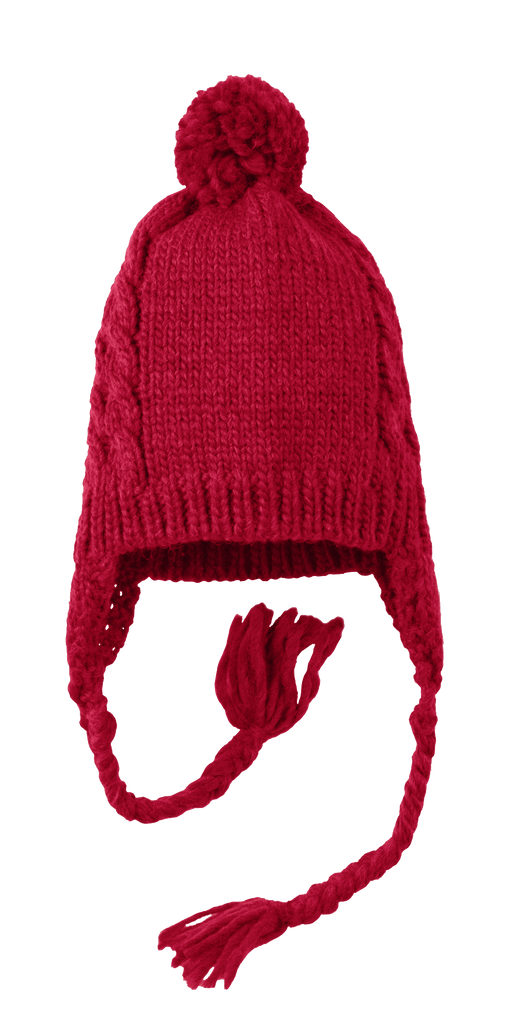 District Cabled Beanie with Pom
