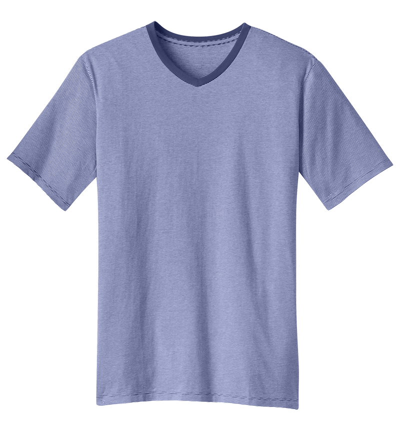 District DM320 Mini Stripe Notch Tee