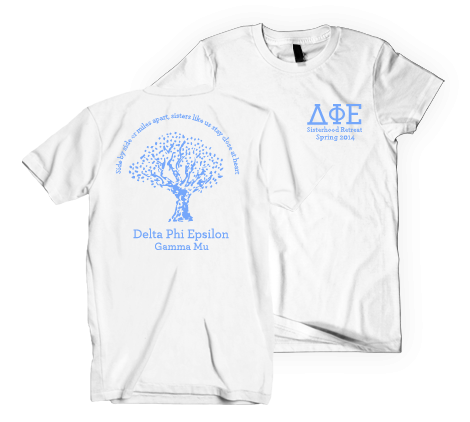 Ferrum College Delta Phi Epsilon Retreat Tree Shirt