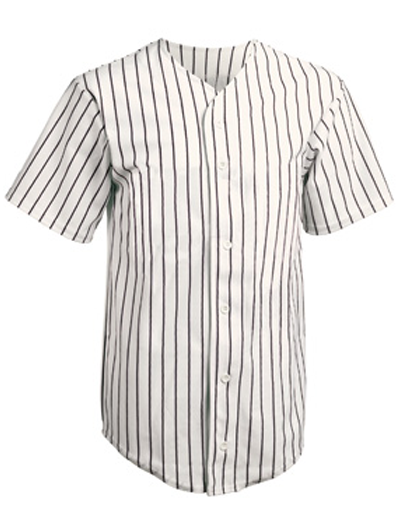 Teamwork Athletic Full Button Pinstripe Jersey