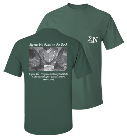 Sigma Nu Road to the Rock Initiation Shirts