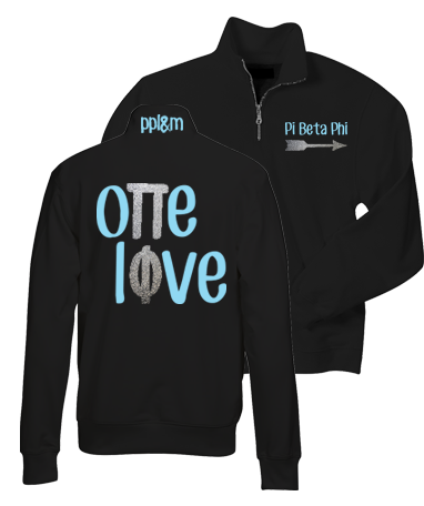 Pi Beta Phi One Love Quarter Zip
