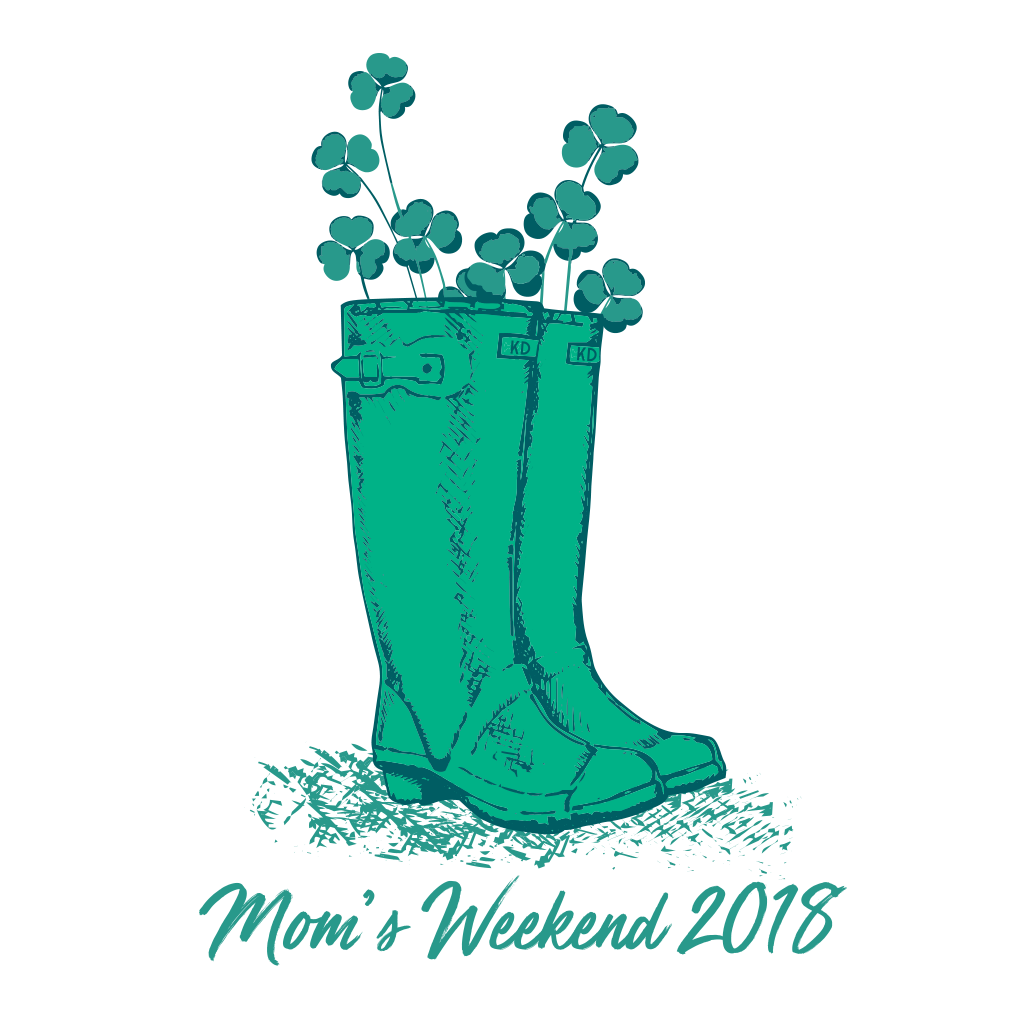 Kappa Delta Rainboots and Shamrocks Design