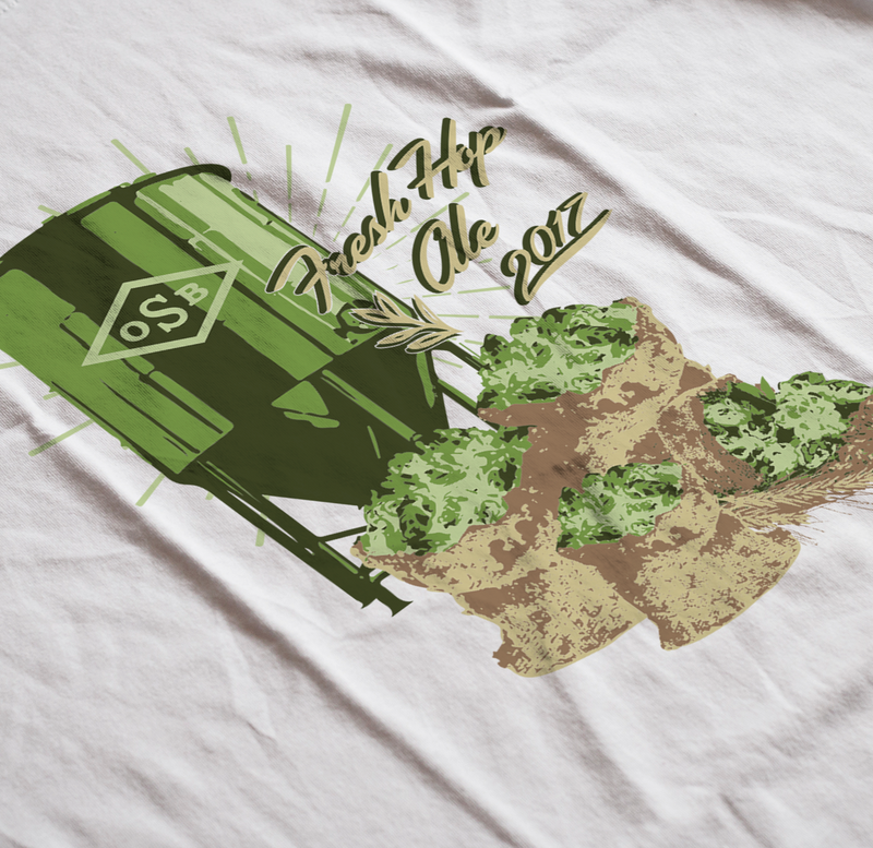 Old Schoolhouse Brewery Fresh Hop Retro Design