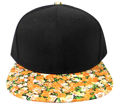Orange Blossom Floral Snapback