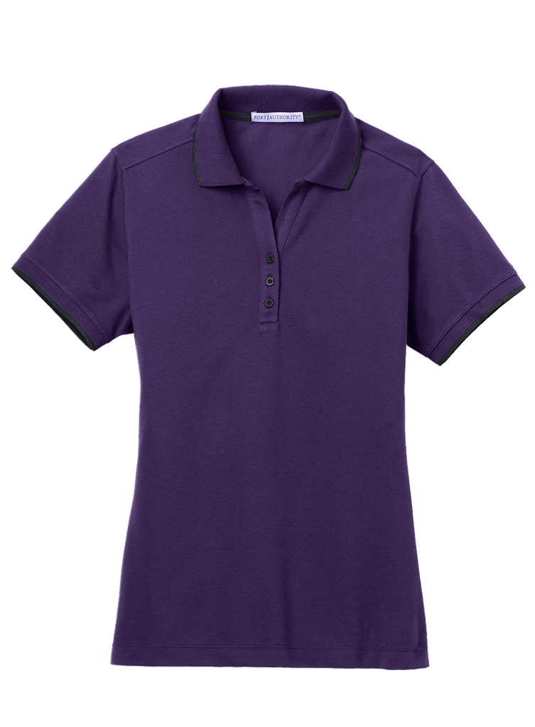 Port Authority Ladies Tipped Polo