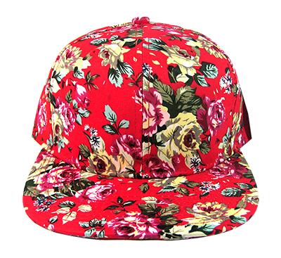 Red Harsh Rose Floral Snapback