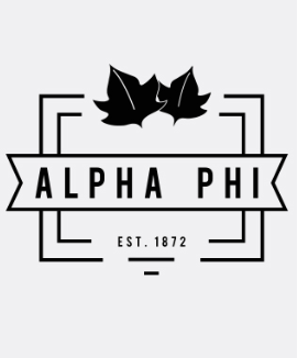 Alpha Phi Roadtrip Tee- Alternative Apparel
