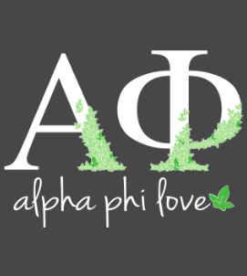 Alpha Phi Love- American Apparel Zip Up