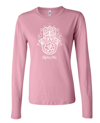 LPHA PHI- Bella + Canvas Ladies' Long Sleeve design