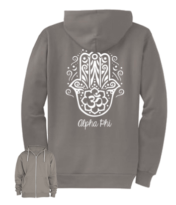 Alpha Phi- American Apparel Zip Up