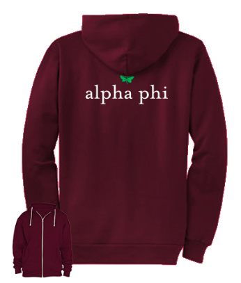 Alpha Phi IVY- American Apparel Zip Up